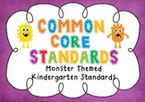 Common Core Standards Posters - MONSTER THEMED - Kindergar