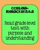 5th grade ELA Foundational Skills in Reading Common Core S
