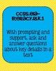 Kindergarten Reading Literature Common Core Standards Posters