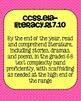 7th grade Reading Literature Common Core Standards Posters
