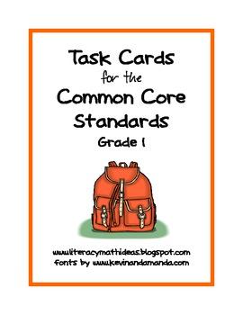 Common Core Standards Task Cards:  Grade 1
