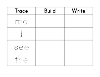 Common Core Standards- Trace, Build and Write... by Molly K ...