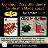 Common Core Standards for Health Made Easy: 20 Full Lesson
