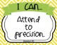 Common Core Standards for Mathematical Practice: I Can Posters