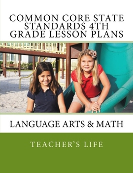 Common Core State Standards 4th Grade Lesson Plan Book