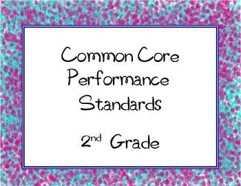 Common Core State Standards Checklist: Second Grade ( 2nd Grade )