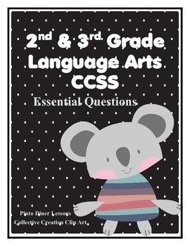 English Language Arts Common Core 2nd and 3rd grade Koala Theme