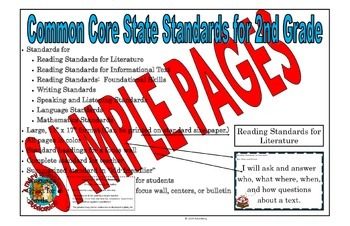 Common Core State Standards for 2nd Grade (sample posters)