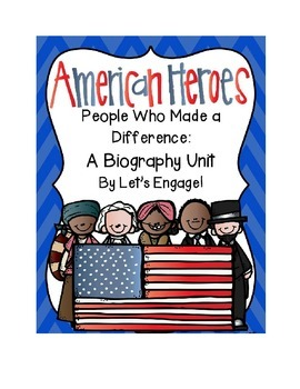 Biography Unit:  People Who Made a Difference (Common Core