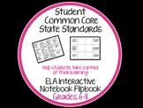 Common Core Student Flipbook for ELA Interactive Notebooks