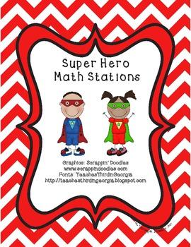 Common Core Super Hero Math Station