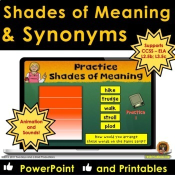 Shades of Meaning and Synonyms Vocabulary Lessons