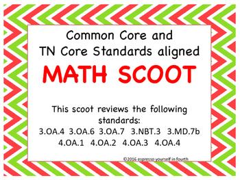Common Core/TN Standard Aligned Math Scoot