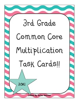 Common Core Task Cards! 3rd Grade! Operations and Algebrai