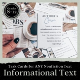 Common Core Task Cards: Reading Informational Text Grades 9-12
