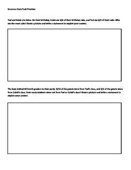 Common Core Task Practice Worksheet
