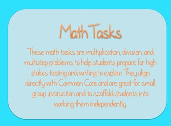 Common Core Tasks (6 Tasks)