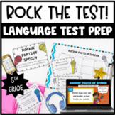 Common Core Test Prep Language Centers for 5th Grade {Rock