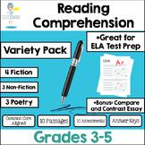 Reading Test Prep Assessments - Non-fiction * Fiction * Po