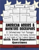 Text Evidence Biographies {Close Reading, Homework, Assess