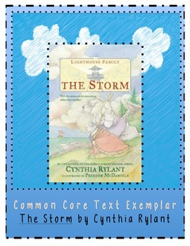 The Storm Cynthia Rylant Common Core  Exemplar Exemplary T