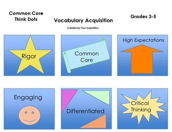 Common Core Think Dots for Vocabulary Acquisition Grades 3, 4, 5