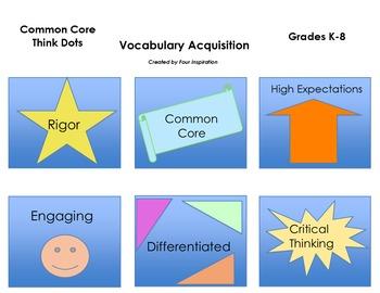 Common Core Think Dots for Vocabulary Acquisition Grades K- 8