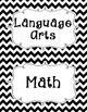 Common Core Third Grade I Can Statements-ELA & Math-Chevro