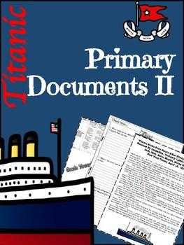 Titanic Primary Documents II Lesson