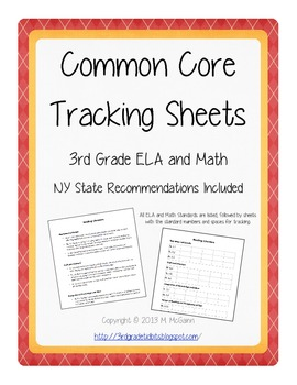 Common Core Tracking Sheets - 3rd Grade ELA/Math