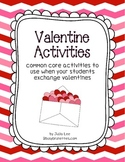 Common Core Valentine Activities