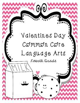 Common Core Valentine's Day Language Arts 4th (Fourth) Grade