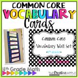Common Core Math Vocabulary Word Wall: Grade 4