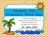 Common Core Vocabulary Word Wall Grades 3-5: ELA, Math, &