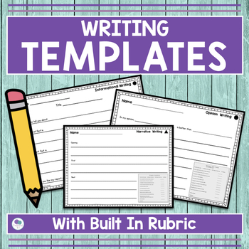 Common Core WRITING RUBRICS for First Grade