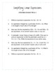 Common Core Word Problems Grade 7 - Expressions and Equations