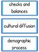 Common Core Word Wall: 3rd Grade Social Studies