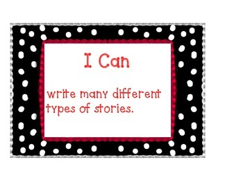 """Common Core Writing """"I Can Posters"""" (Pok-a-dot)"""