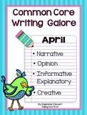 Common Core Writing - April Writing