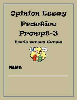 Common Core Writing Assessment-Opinion Writing Prompt-#3