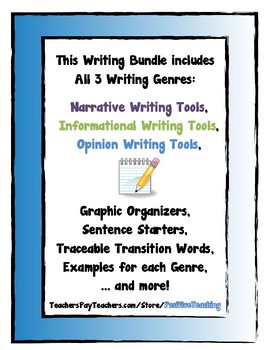 Writing Bundle - All Genres - Narrative, Informative, Opinion
