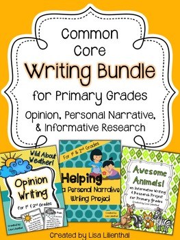 Common Core Writing Bundle #3 ~ Primary