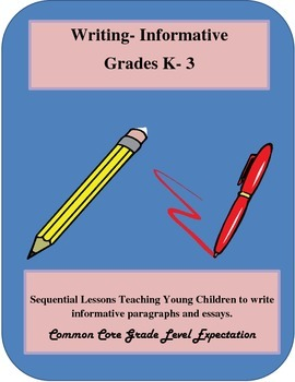 Common Core- Writing- Informative -Grade K-3