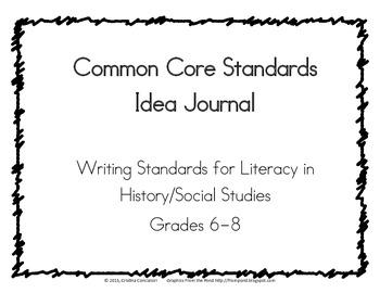 Common Core Writing Lesson Idea Journal, Social Studies Hi