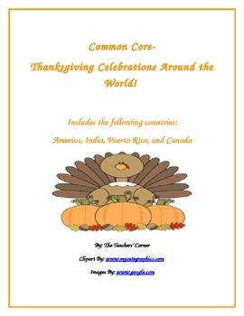 Common Core Writing: Let's Write!!! Thanksgiving Celebrati