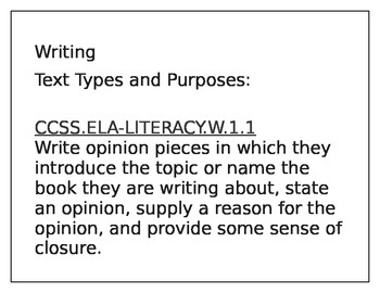 Common Core Writing Standards Posters