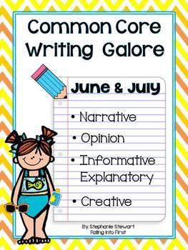 Common Core Writing- Summer Writing