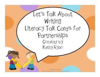 Common Core Writing Talk Cards for Partnerships