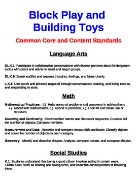 Common Core and Content Standards for Exploration Stations