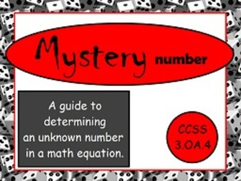 Determine Unknown Number in Multiplication and Division OA